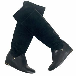 JILL STUART Black Knee High Boots. SZ 23.5 / SZ 6